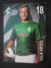 25073 Felix Kroos Werder Bremen 12-13 original signierte Autogrammkarte