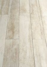5x24 Rectified Sand White Plank Porcelain Tile Floor Wood-look (SOLD PER PIECE)