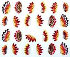 Nail art stickers décalcomanie bijoux d'ongles: jolies plumes nuances de marron