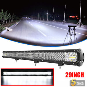 """Quad ROW 29""""inch 2100W LED Light Bar Combo Offroad for Jeep Truck 30""""31"""" 32"""" 36"""""""