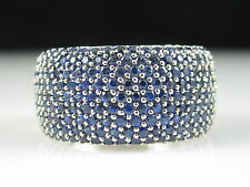 14K Blue Sapphire Ring 3.60ctw White Gold EFFY GEMMA Band Size 8 $4250