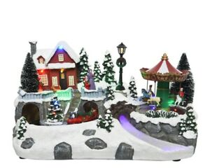 LIght Up LED Christmas Decoration - Fibre Optic Christmas Village - 19 Lights