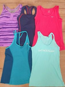 5x Size 8 Small Nike, 2XU Running Gym Top. Sports Activewear Singlet singlet top