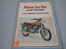 SHOP Repair Manual Book HOW TO FIX YOUR SUZUKI TWO CYLINDER MOTORCYCLE