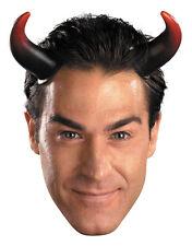 Adults Devil Demon Costume Accessory Oversized Long Red Black Horns Headband