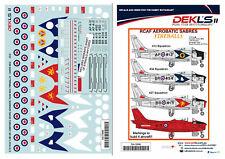 1/72 Decals Canadair Sabre - RCAF 'Fireballs' Aerobatic Team DEKL's II