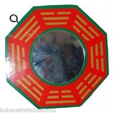 1 x Chinese Fengshui  Bagua Bagwa Glass Mirror Hanging 100mm(BW023)