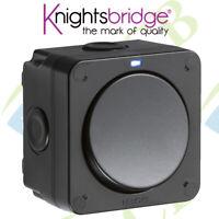 Knightsbridge IP66 20AX 1G SP 2-Way Switch - Black Outdoor On Off Weatherproof