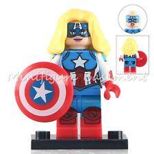 Custom Miss America Minifigure Avengers Marvel fits with Lego UK Seller