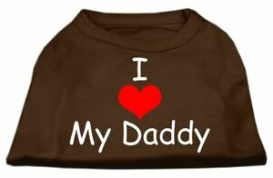 I Love My Daddy Screen Print Dog Cat Pet Puppy Valentines Day Shirt