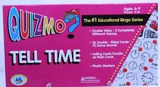 QUIZMO: Tell Time Educational Bingo Game Telling Time Complete EUC