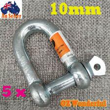 5pcs × 10mm D Shackles U Loop Dee Shackle Chain Link Fastener Tow Car Trailer