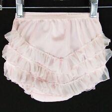 Vintage Girls Panties Size 4 Pink Chiffon Ruffles Mam'Selle 100% Nylon Frills
