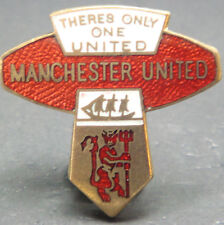 MANCHESTER UNITED Rare vintage badge Maker REEVES B'ham Brooch pin 30mm x 30mm
