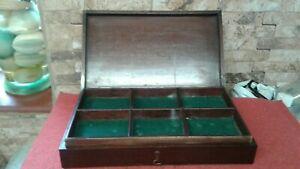 Antique Mahogany Collectors Box    Fabulous Condition