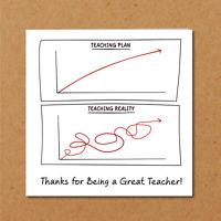 Funny Teacher Card - End of Term Fun humorous amusing lockdown best thank you