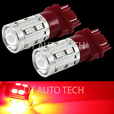2X 3157 Red Projector CREE+5630 Chip LEDs High Power Brake Tail Stop Light Bulbs