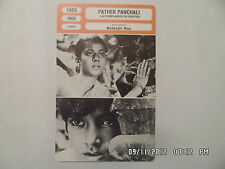 CARTE FICHE CINEMA 1955 PATHER PANCHALI Subir Bannerjee Umadas Gupta