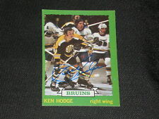 KEN HODGE 1973-74 TOPPS SIGNED AUTO CARD #133 BRUINS