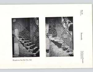 1924 Wrought Iron Stair Rail Orta Italy