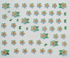 Accessoire ongles nail art Stickers autocollants , fleurs multicolores