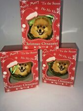 Adorable Pomeranian Dog Ball Christmas Ornament Free Ship