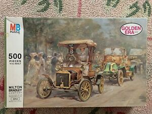 VINTAGE 1975 MILTON BRADLEY UNOPENED PUZZLE 500 PIECES GOLDEN ERA
