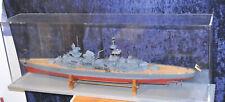 großes  Modellschiff aus Holz - ca. 105 cm lang mit Vitrine  120 cm lang