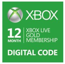 Microsoft Xbox Live Gold 12 Month Membership Card for Xbox One/360 region free