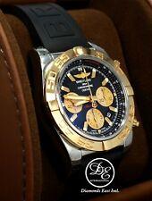 BREITLING Chronomat 44mm CB0110121B1P1 Black Chrono 18K Rose Gold/ SS B/P *NEW*