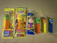 Sesame Street Pez Dispenser Lot Kermit Big Bird Ms Piggy Fozzy Gonzo some sealed