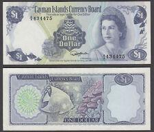 Cayman Islands 1 Dollar 1974 (VF++) Condition Banknote A/4 QEII