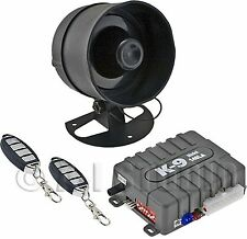 OMEGA K9-140LA CAR 1-WAY SECURITY KEYLESS ENTRY ALARM SYSTEM W/SHOCK SENSOR/AUX