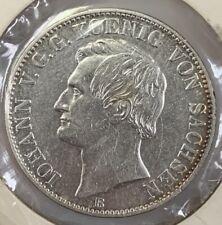 1860 B German States SAXONY-ALBERTINE Thaler KM#1210