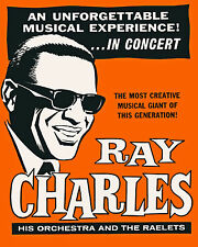 Ray Charles - Concert Poster, 8x10 Color Photo