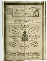 AIRGRAPH PAIFORCE 1943 Christmas Greetings Queen Mary's Regt Surrey Yeomanry