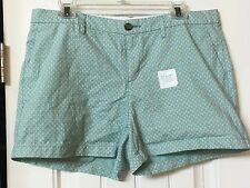 NWOT~Old Navy mint green floral print cotton shorts 3.5 inch inseam~10