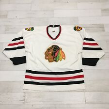 CCM Chicago Blackhawks NHL Hockey Jersey Adult Large Sewn White