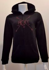 NEW Roxy Girl Full Zip Black Hoodie - 16