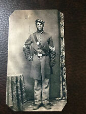 Civil War African American Union Soldier tintype #C841RP