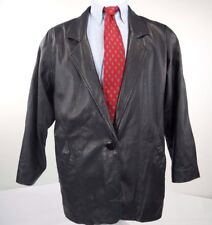 Mens Sawyer of Napa Sport 100% Leather One Button Leather Jacket Size Medium