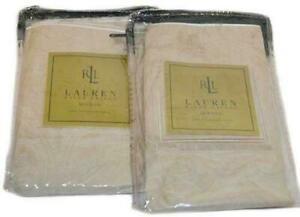 2 RALPH LAUREN Cafe Sailcloth Avenue STANDARD SHAMS NEW