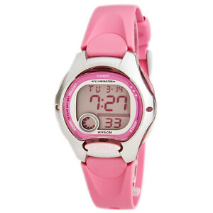 CASIO Ladies Kids Girls LW200-4B Digital Pink Resin Strap Watch LW-200 LW200 New
