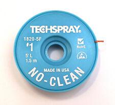 NO-CLEAN Entlötlitze 0,9mm breit, 1,5m auf ESD-Rolle, Hochwertig, Made in USA