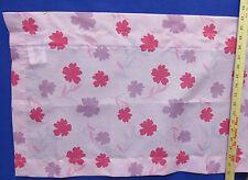 "Curtain Valance Pink w/ Purple Flowers Cute Girls Bedroom Window Dan River 90"""