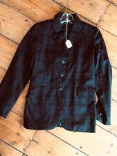 Grand Prix Midnight Blue Plaid Youth Hunt Coat Size 12 *Vgc*