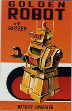 FRIDGE MAGNET GOLDEN ROBOT AKA DIRECTIONAL ROBOT ROBOTER KÜHLSCHRANK MAGNET No.6