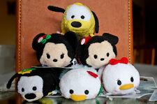 Disney Tsum Tsum Christmas Mickey Mouse Minnie Donald Daisy Pluto Goofy 2015 Nwt