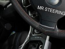Para Nissan Skyline R32 89-94 Cubierta del Volante Cuero Verdadero Marrón STCH doble
