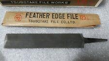 NIB Japanese FEATHER EDGE SAW FILE 125mm double faced TSUBOTAKE